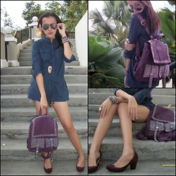 Desy Frankissy robertson - Colorbox Jumpsuit, Unbrand Blink Bag, The Little Thing She Needs Shoes - When desy wear jumpsuit
