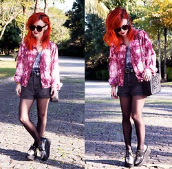 Pollie Ferraz - Bohemian Bones Jacket, Diy Shorts, Chanel Bag, Creepers - Tie by Tie a Diy