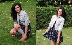 Melinda S. - New Look Denim Jacket, H&M Polka Dot Dress, New Look Oxford Shoes - You're never fully dressed without a smile.