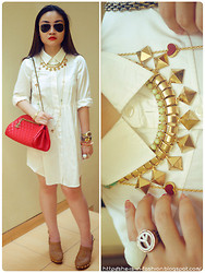 Grace Ng - Accessoria Nerve Joan Of Arc Necklace, Tory Burch Wiadianne Woven Clogs - Independence Day