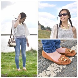 Mayzin Han - Yesstyle Top, River Island Moccasins - All you need is lace