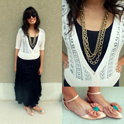 Cecilia H - Forever 21 Gold Necklaces - Gold bling and pretty little shoes
