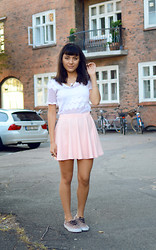 Yin Pang - Thrift Shirt, Skirt, Vans Shoes - CFW 2