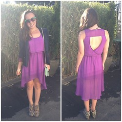 Felicia Froton - Lush Purple Dress - Ripple Effect