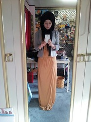 Lina Hussein - Primark Maxi Dress, H&M Blazer, A Gift Hijab - Eid Outfit.