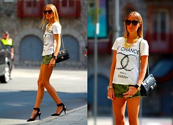 Victoria Kemerer - Chic Wish Tee, Chanel Bag, Zara Shoes - Camo trend