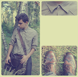 Artem Haranin - New Yorker Shirt, Mascotte Bag, Rockport Oxfords - A few words a day