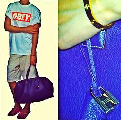 "Alexander Child - Obey Tee, Gucci Shorts, Havaianas Sandals, Love Cartier 18k Gold ""Love"" Bracelet, Hermës Hermes Bag - KEEP ON SUMMER TIME"