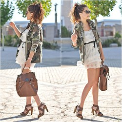 Crris LoveShoppingandFashion - Pull & Bear Jacket, Vintage Dress, Pimkie Heels, Dayaday Bag - Army
