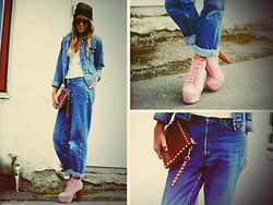 Sofie H -  - DENIM, SILK AND A TOUCH OF PINK