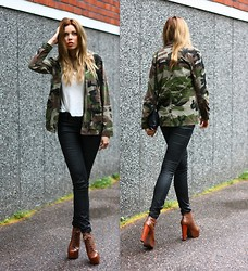 Kia T - Pull & Bear Camo Jacket, Jeffrey Campbell Shoes - Camouflage