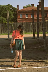 Erin Catherine - Vintage Floppy Hat, American Apparel Peter Pan Collar Blouse, American Apparel Pique Skirt, Thrift Leather Boots - Patarei Prison