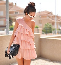 Crris LoveShoppingandFashion - Sheinside Dress - Chiffon Pink Dress