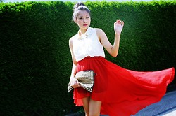 Thao Nhi Le - Vokuhila Skirt - RED is my passion