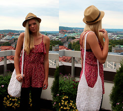 Jennifer Nilsson - Wera Hat, Åhlens Bag, Boohoo Playsuit - Goodbye summer