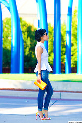 Nini Nguyen - H&M Top, Madewell Jeans, Christian Louboutin Shoes - Jeans + Peplum Top