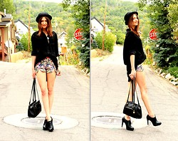 Megan S - Zara Top, Shorts, Aldo Shoes - Quick Stop