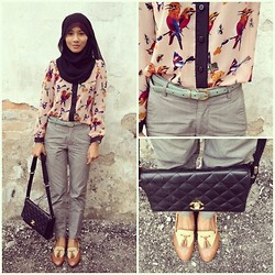 Kaka_fairy . - Charles And Keith Tessel Loafer, Chanel Bag, Gap Tweed Pants - Fly bird fly