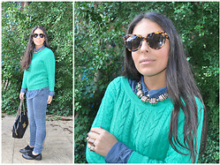 Panagiota P. - H&M Jumper, Karen Walker Sunnies, Urban Outfitters Shoes - Simplicity.