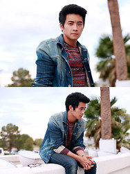 Peter Adrian - On The Byas Print Sweater, Diesel Denim Jacket, Forever 21 Skinny Jeans - With a little help from my friends