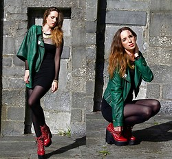 Ciara O doherty - Zara Jacket, New Look Top (As Dress), Pretty Polly Tights, Jeffrey Campbell Shoes, American Apparel Top, Eclectic Eccentricity Necklase - Eclectic Eccentricity