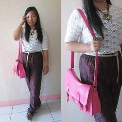 Nadin Magbiray - Thrifted Lace Top, S&M Necklace, Online Satchel - I'll Be There in A Heartbeat