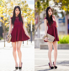 "Isabel Z - Rosy Ruby ""Manhattan"" Dress, Novo Heels - Love a little lace"