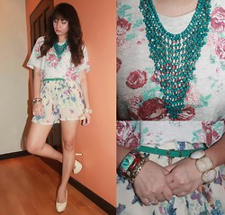 Rachel venus Erispe - Forever 21 Top, Fashioncookie Shoeavenue Shoes - When butterflies meets flowers