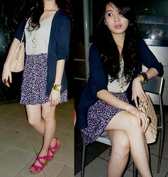 Carla Garcia - Payless Wedge, Charles And Keith Bag, Forever 21 Floral Skirt, Forever 21 Top - Perfect Sunday <3