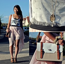 Jennifer V - Zara Top, Korean Shop Necklace, Korean Shop Skirt - Fly, little Bird ~