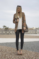 Gabby Smith - Zimmermann Jacket, Sass Leather Pants - Paisley + leather