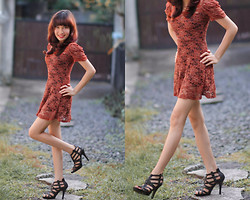Jamaica C - Lace Dress, Strap Heels - Lazy lacey