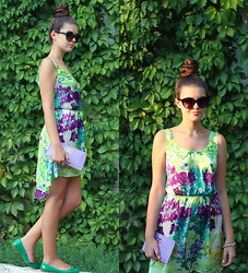 Diana Nesterov - Zara Flats - Tropical dress