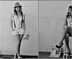 Ro Alvarez - Zara Hat, White Bluse, White Pants, H&M Heels - Broken love song - Pete Doherty