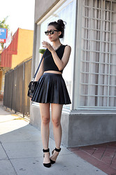 Jenny Ong - H&M Black Faux Leather Skirt - A little bit of change