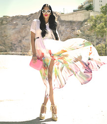 Konstantina Tzagaraki - Romwe Dress, Gucci Wedges, Zara Clutch, Romwe Sunglasses - Let me be your special one..
