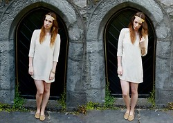 Ciara O doherty - Eclectic Eccentricity Headpiece, New Look Dress, Urban Outfitters Slipper Pumps - The Girl in White