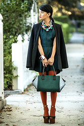 Olivia Lopez - H&M Necklace, H&M Bracelet, H&M Bag, H&M Dress, H&M Blazer - Stepping Into Fall With H&M