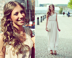Hedvig W - Pilgrim Earrings, Dress, Wera Heels, Old One Clutch Bag - *~PROM~*