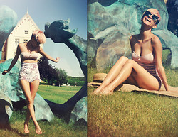 AMINTA ONLINE - Boodwah Hot Pants, Giant Vintage Sunglasses - Last days of summer 2