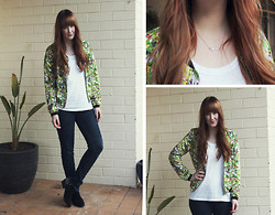 Emmy Leelahlou - Dotti Floral Bomber Jacket - The Last of the Floral Jackets