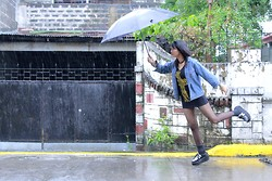 Janille Rose Olegario - West Street Jeans. Maong Jacket, Mint Shirt, Sm Department Store Black Umbrella, Hosanna Creepers - When it Rains...