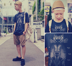$xxxxvxO  Pxxv$$x YvxE - Blood Is The New Black Tee, Henrik Vibskov Hat, Asuza Shorts - PXCX$$X XX XXX XXXXX