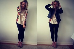 Sara Arminen - Vila Shirt, Vila Leather Jacket, Glitter Bag, H&M Flats - I MAY BE DEEPLY IN LOVE WITH MY NEW SHIRT