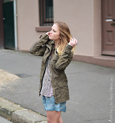 Jackie Steen - White Lily Red Rose Cloud 9 Shorts, Henleys Military Jacket - Cloud 9 Shorts // Available Online <3