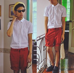 "Jehan R. - Bench Polka Dotted Shirt, Uniqlo Chino Shorts, Bayong, Aldo Shoes - THE LOCAL ""SHOPPER"" PROJECT"