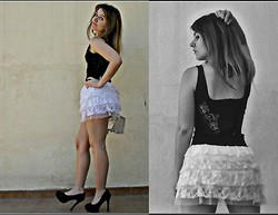 Ro Alvarez - H&M Top, Ballerina Skirt, Zara Heels - When we collide,we come together