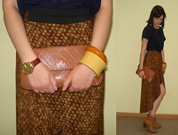 Elena Shore - Hand Made, Vintage Clutch, Vintage - My hand made skirt