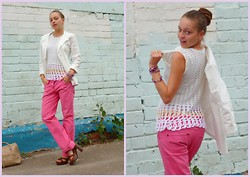 Anastasya O - Acsessorise Pomelato, Zara White Angel, United Colors Of Benetton Pink Love - Pink jeans