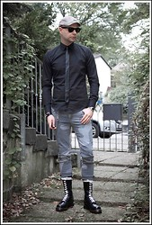 "Ivan Johannes - Diesel Leather Tie, Dr. Martens Boots, 14 Eyelets, Cheap Monday Jeans, Ray Ban Sun Glasses - ""Rude Boy"" / Skinhead style"
